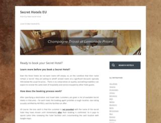 secrethotels.eu screenshot