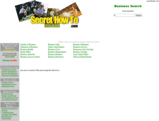 secrethowto.com screenshot