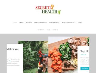 secretlyhealthy.com screenshot