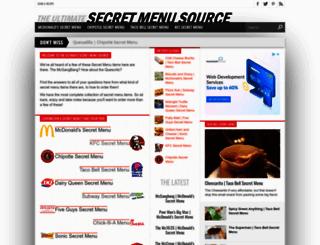 secretmenusource.com screenshot