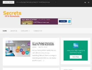 secretsofamomaholic.com screenshot