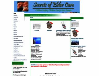 secretsofeldercare.com screenshot