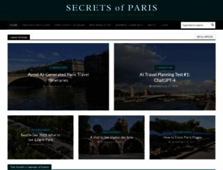 secretsofparis.com screenshot
