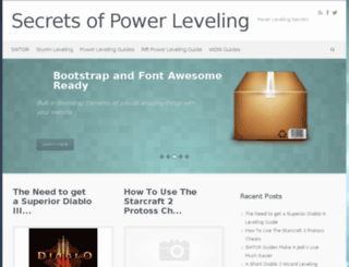 secretsofpowerleveling.com screenshot