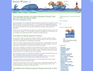 secretwater.com.au screenshot