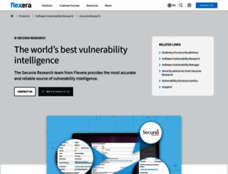secunia.com screenshot
