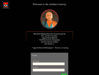 secure.adidam.org screenshot