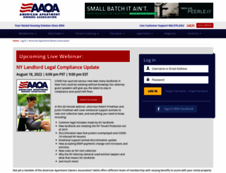 secure.american-apartment-owners-association.org screenshot