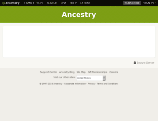 secure.ancestry.com screenshot