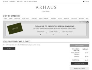 secure.arhaus.com screenshot