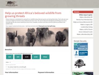 secure.awf.org screenshot