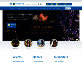 secure.bethematch.org screenshot