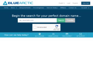 secure.bluearctic.com screenshot