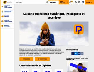 secure.digiposte.fr screenshot