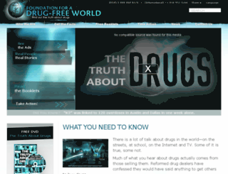 secure.drugfreeworld.org screenshot