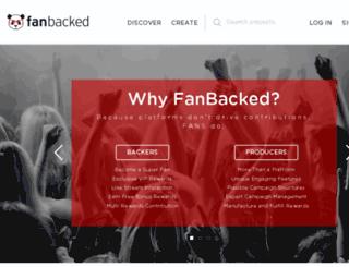 secure.fanbacked.com screenshot