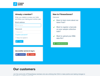 secure.fitnessgenes.com screenshot