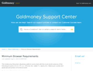 secure.goldmoney.com screenshot