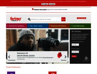 secure.haringey.gov.uk screenshot