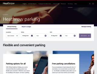 secure.heathrow.com screenshot