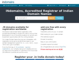 secure.indomains.net screenshot