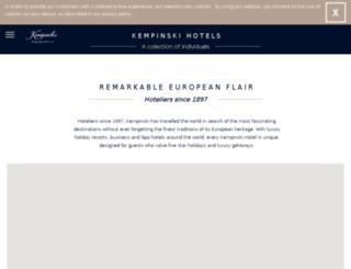 secure.kempinski.com screenshot