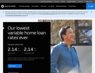 secure.macquarie.com.au screenshot