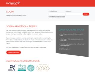 secure.marketscan.co.uk screenshot