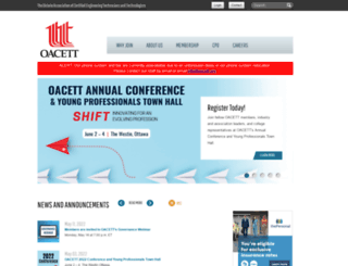 secure.oacett.org screenshot