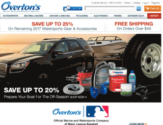 secure.overtons.com screenshot