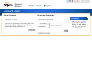 secure.peplink.com screenshot