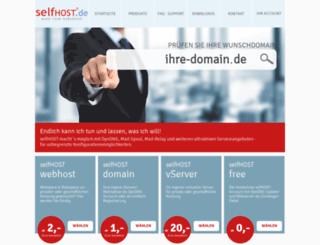 secure.selfhost.de screenshot