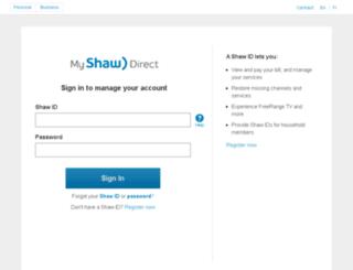secure.shawdirect.ca screenshot