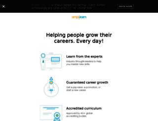 secure.simplilearn.com screenshot