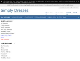 secure.simplydresses.com screenshot