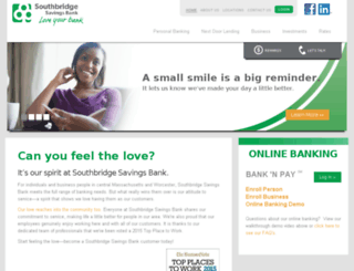 secure.southbridgesavingsbank.com screenshot