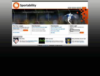 secure.sportability.com screenshot