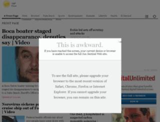 secure.sun-sentinel.com screenshot