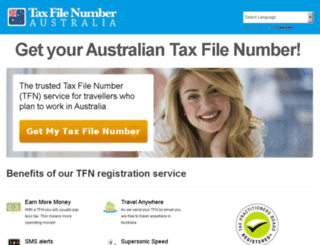 secure.taxfilenumberaustralia.com.au screenshot