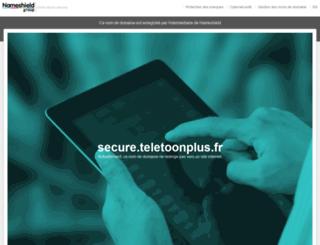 secure.teletoonplus.fr screenshot
