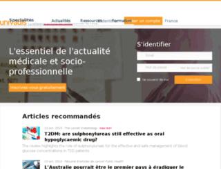 secure.univadis.fr screenshot