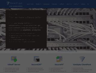 secure.vandyke.com screenshot