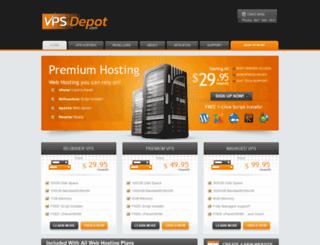 secure.vpsdepot.com screenshot