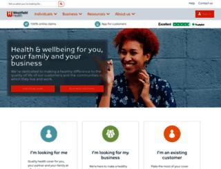 secure.westfieldhealth.com screenshot