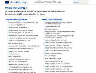 secure.whatsthatcharge.com screenshot