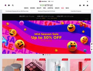 secure.yesstyle.com screenshot
