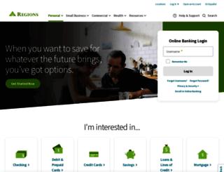 securebank.regions.com screenshot