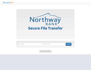 securefiletransfer.northwaybank.com screenshot