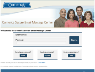 securemail.comerica.com screenshot