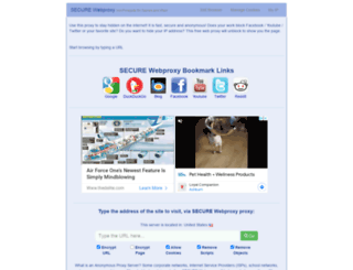 securewebproxy.net screenshot